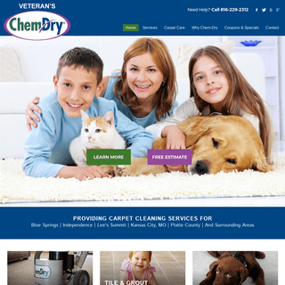 Carpet Cleaning Independence, Blue Springs, & Lee's Summit MO - Veteran's Chem-Dry