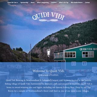 ArchiveBay.com - quidividibrewery.ca - Quidi Vidi Brewing Co.