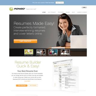 ArchiveBay.com - pongoresume.com - Resume Builder - Resume Templates & Samples - Quick & Easy - Pongo