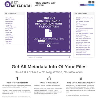 ArchiveBay.com - get-metadata.com - Check files for metadata info