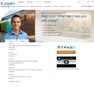 Home - St. Joseph's Healthcare Hamilton Careers