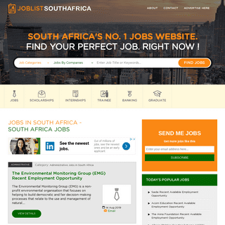 ArchiveBay.com - joblistsouthafrica.com - Jobs in South Africa, Careers, Vacancies 2017 - Joblistsouthafrica.com