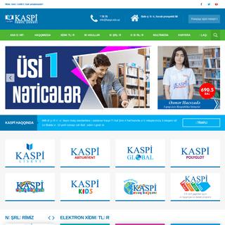 Kaspi Təhsil Şirkəti - Mükəmməl milli təhsil amalımızdır!