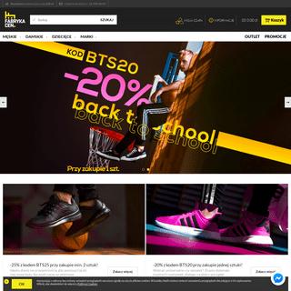 Sklep internetowy fabrykacen.pl - Modne obuwie w niskich cenach. Buty męskie, damskie i obuwie dziecięce, ebuty, sklep online,