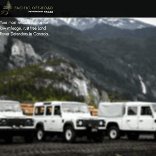 Pacific Off-Road Land Rover Defender Sales - Squamish, BC