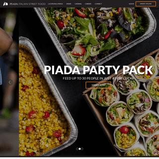 Piada Italian Street Food Home - Piada Italian Street Food