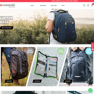 ArchiveBay.com - harissonsbags.com - Best Office Laptop Bags for Men & Women Online in India - HarissonsBags