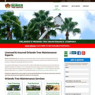 Tree Trimming - Tree Removal - Debris Removal - Beaver Tree Service, Inc. - Orlando, Florida -