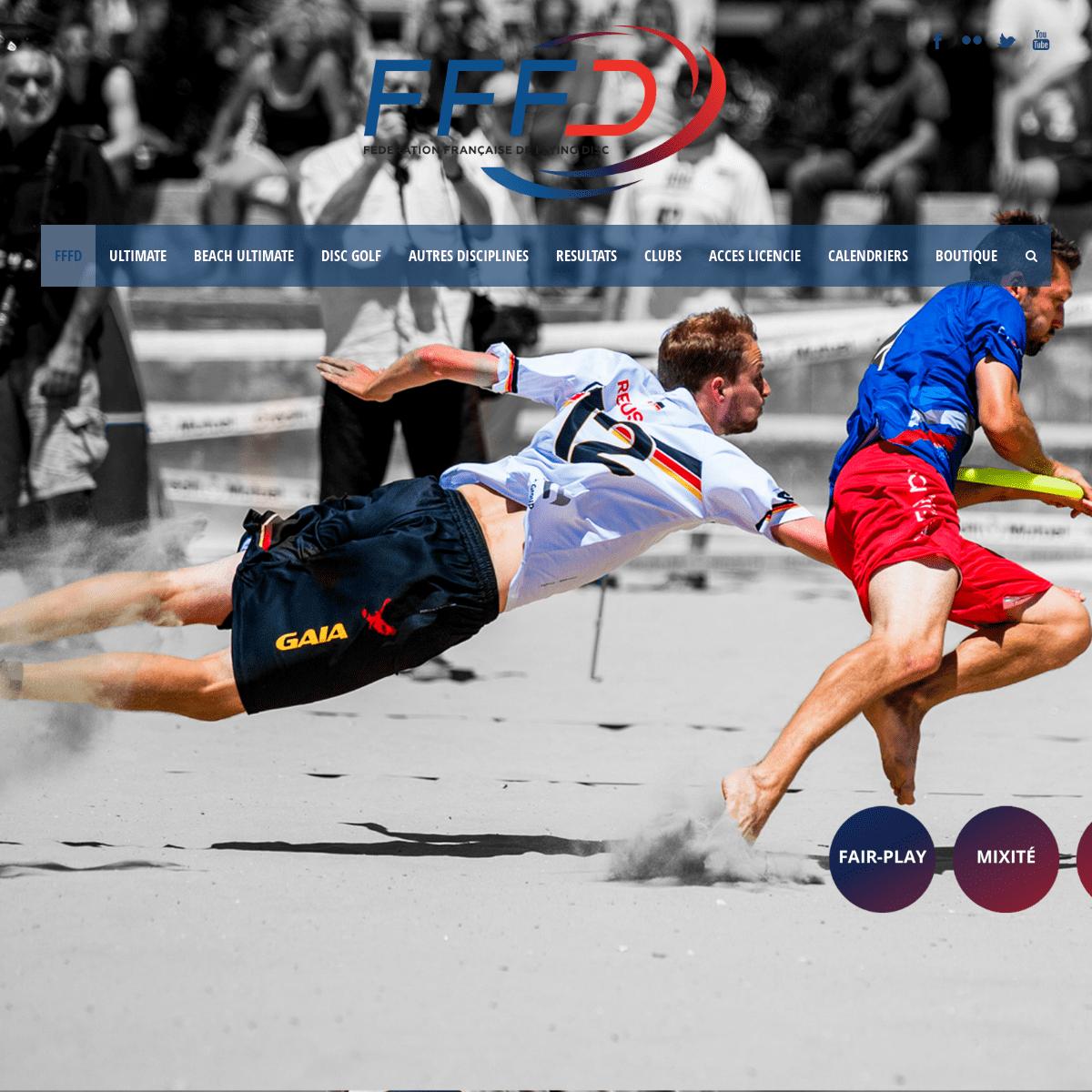 ArchiveBay.com - ffdf.fr - FFFD – Fédération Française de Flying Disc FEDERATION FLYING DISC FRANCE - Tout sur l'Ultimate Frisbee et le Disc Golf