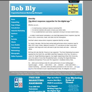 Direct Response Copywriter - Bob Bly