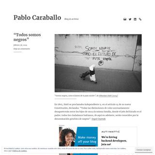Pablo Caraballo – Blog & archivo