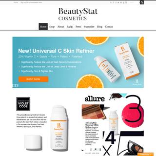 BeautyStat Cosmetics -- Universal Vitamin C Skin Refiner -- Universal Pro-Bio Moisture Boost Cream