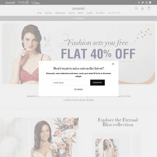 ArchiveBay.com - amantelingerie.in - Bras, Panties, Nightwear, Swimwear, Sportswear Online - amanté – amanteIndia