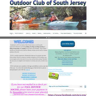 Outdoor Club of South Jersey - Home