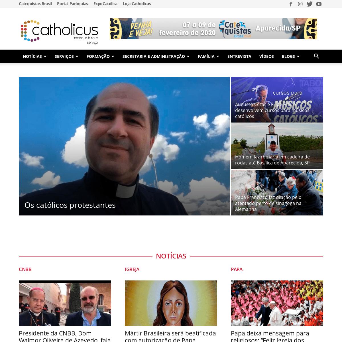 Portal Católico - Notícia, Cultura e Entretenimento - Catholius.org.br