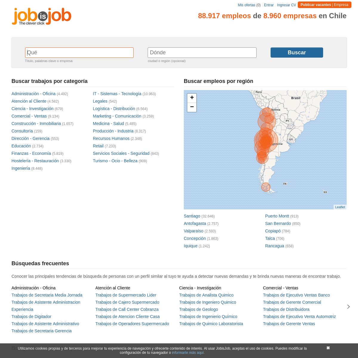 ArchiveBay.com - jobisjob.cl - Busca en todas las bolsas de trabajo. Trabajos, Empleos - JobisJob Chile