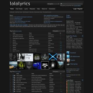 Lololyrics • Music Lyrics and Free Tracks