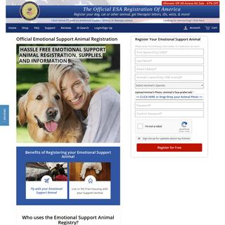 ESA Registration Of America - Emotional Support Animals