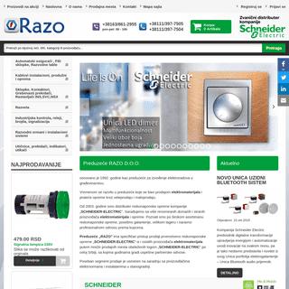 Elektromaterijal - Razoelektro - Schneider Electric zvanični distributer kompanije