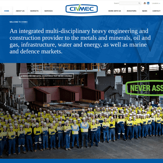 ArchiveBay.com - civmec.com.au - Civmec – An integrated multi-disciplinary heavy engineering and construction provider to the metals and minerals, oil and gas,