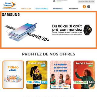 ArchiveBay.com - iam.ma - Maroc Telecom - forfaits téléphone mobile, fixe, internet, adsl, wifi, 4G, 3G Maroc