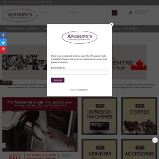 Anthony's Espresso Equipment Inc.