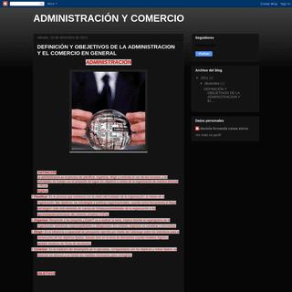 ADMINISTRACIÓN Y COMERCIO
