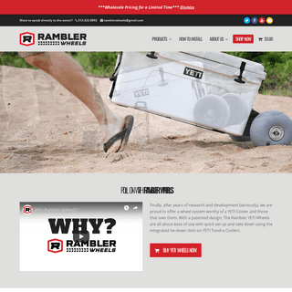 YETI Wheels From Rambler Wheels • Buy EASY to Install Cooler Wheels