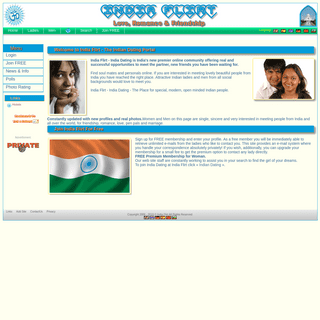 The India Dating Portal - India Flirt - Indian Friendship, Indian Love,Indian Romance, Indian Singles