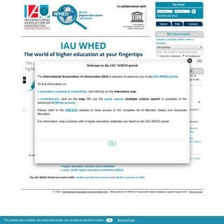 World Higher Education Database (WHED) Portal