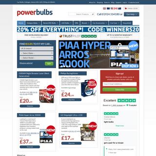 Car Bulbs - Halogen, HID, LED - Philips & OSRAM - PowerBulbs