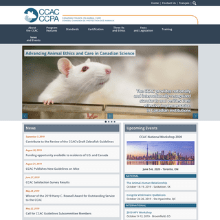 CCAC - Canadian Council on Animal Care- Welcome