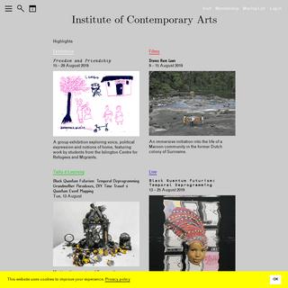 ICA - Institute of Contemporary Arts