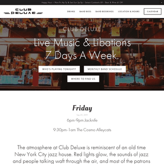 Club Deluxe - Live Music & Libations 7 Days A Week