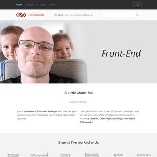 Front End Developer, Melbourne - Petr Tichy