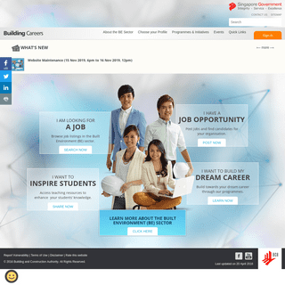 Building Careers Portal (BCP) Home