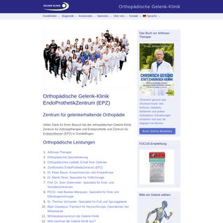 ArchiveBay.com - gelenk-klinik.de - Gelenk-Klinik.de - Orthopädie - Gelenk-Klinik - EndoProthetikZentrum (EPZ) - Kniearthrose - Hüftarthrose - Wirbelsäulenspezia