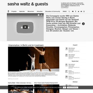 Sasha Waltz & Guests