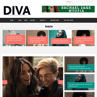 DIVA MAGAZINE – EUROPE'S LEADING MAGAZINE FOR LESBIANS & BI WOMEN