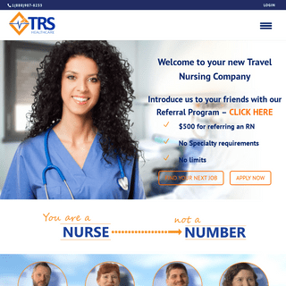 Travel Nursing Agency - RN-Owned Since 1996 - TRS Healthcare
