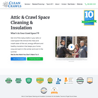 Seattle Attic & Crawl Space Cleaning, Insulation Install & Removal - Tacoma, Bellevue