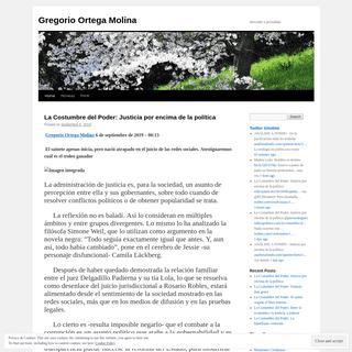 Gregorio Ortega Molina - Narrador y periodista