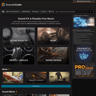 Free Original Music and Sound Effects - SoundsCrate - HD Audio Downloads