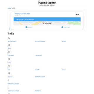 India - PlacesMap.net