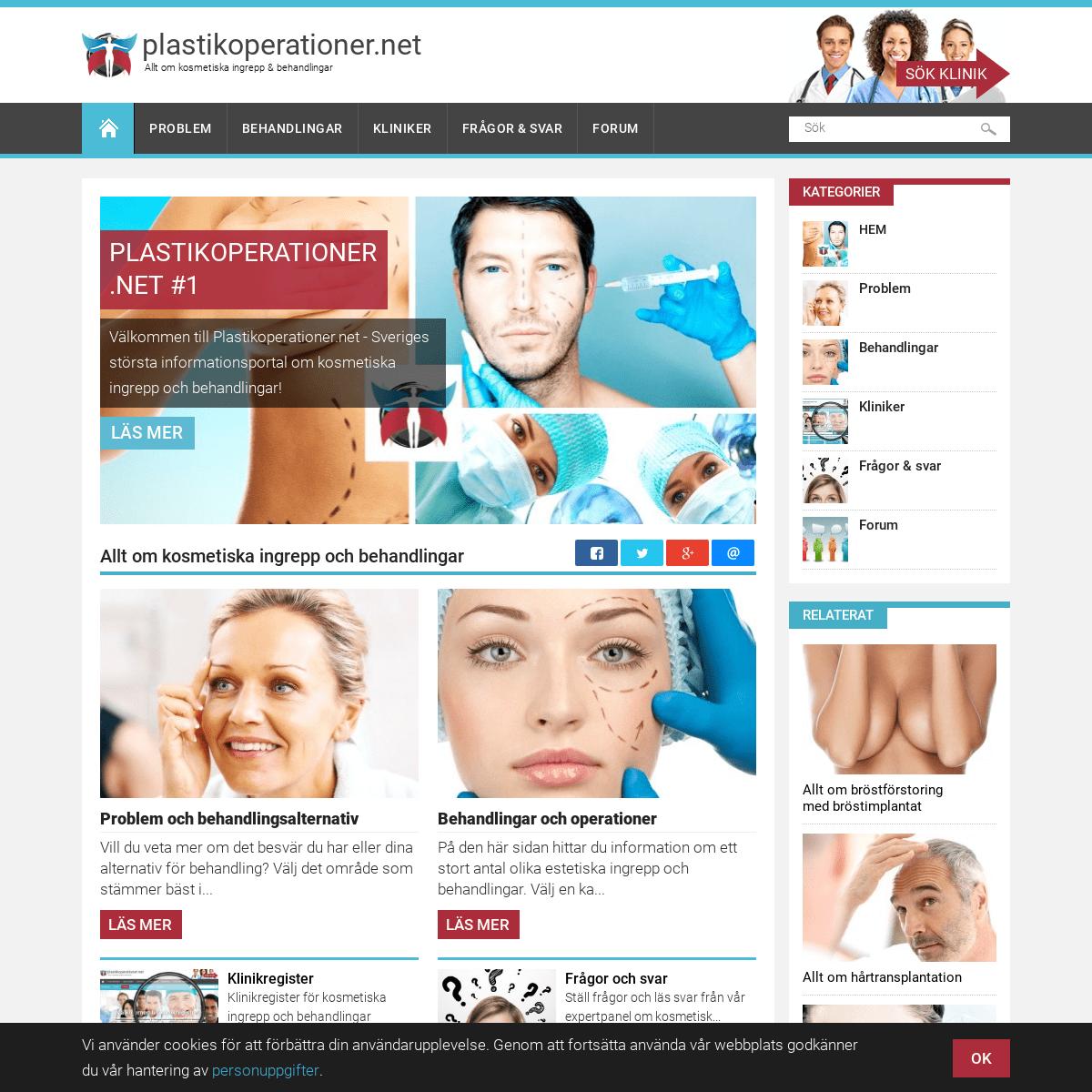Plastikoperationer.net - Allt om kosmetisk medicin