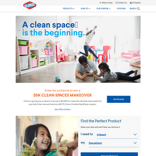 Cleaning Products, Supplies and Bleach - Clorox®