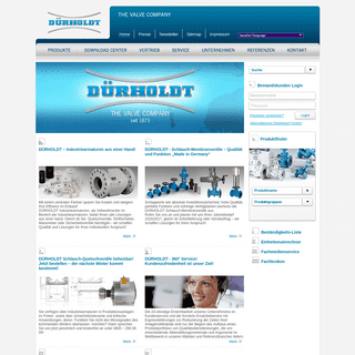 ArchiveBay.com - duerholdt.de - FRANZ DÜRHOLDT GmbH & Co. KG - Industriearmaturen - Startseite