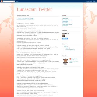 Lunascam Twitter