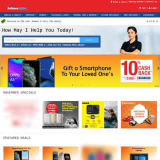 Online Electronic Shopping Store in India - Reliance Digital