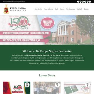 Home - Kappa Sigma Fraternity